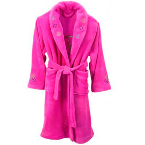 Girls Hot Pink Spa Robe