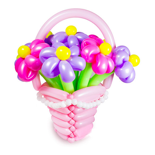Pink Balloon Basket