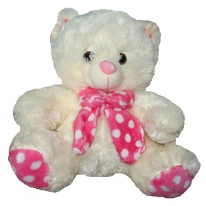 Teddy with a pink bow