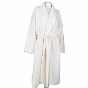Aquis Essentials 2 Layer Robe, Off-white